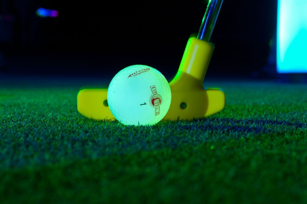 night golf ball glowing dark