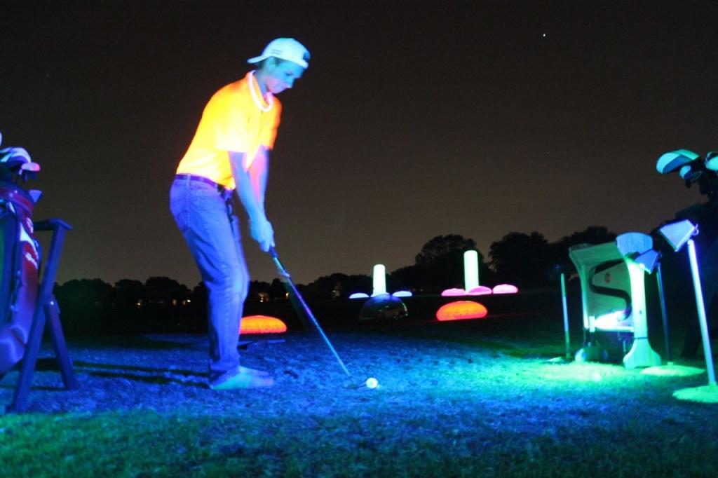 Night golf cosmic driving range
