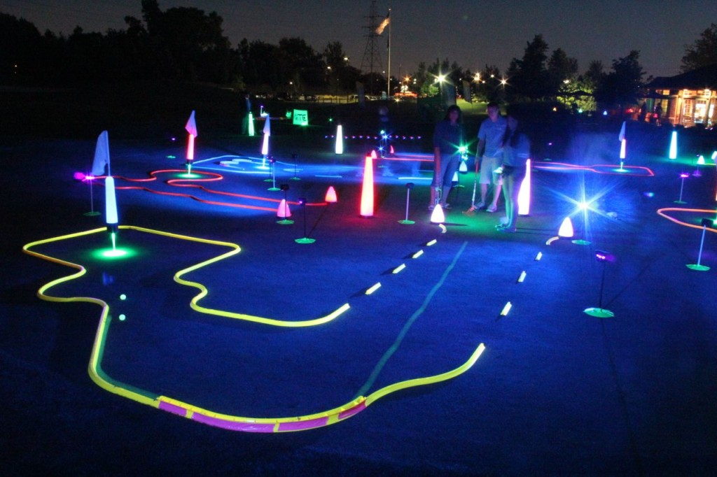 neon night golf