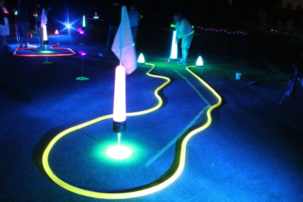 neon glow in the dark golf