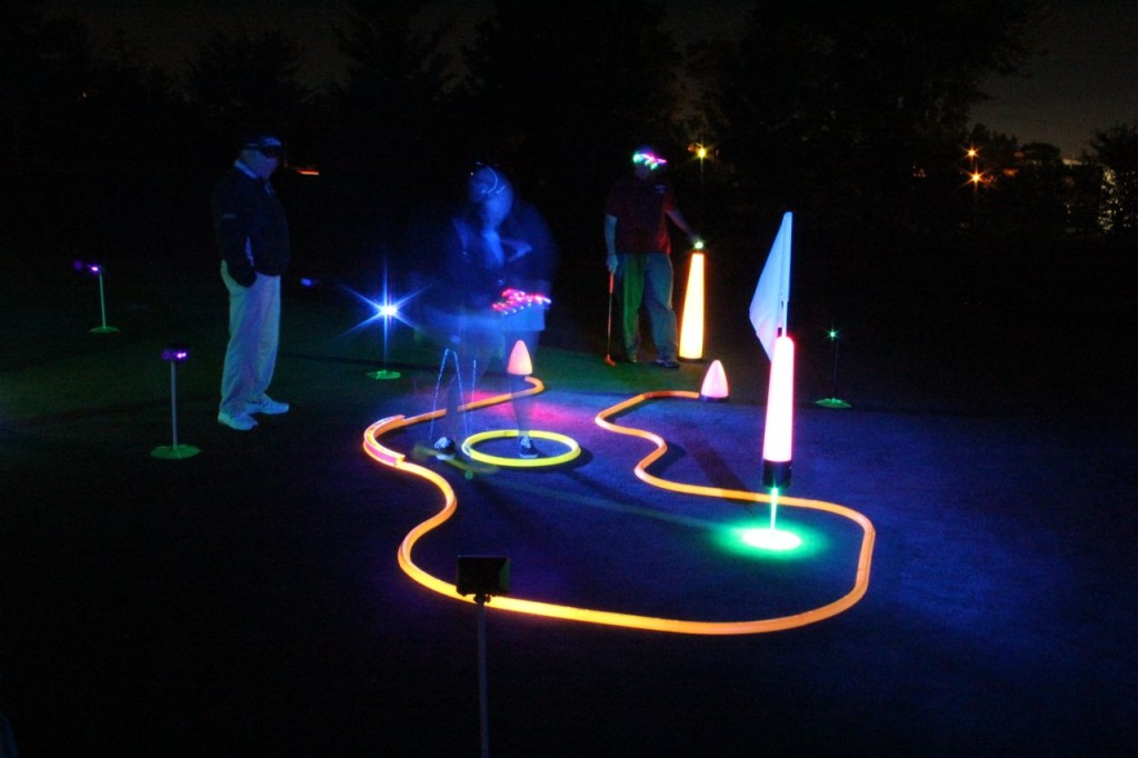 neon night golf events