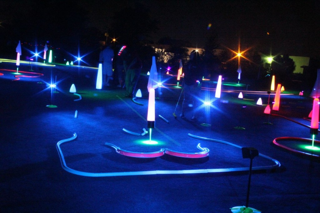 night golf course challenge