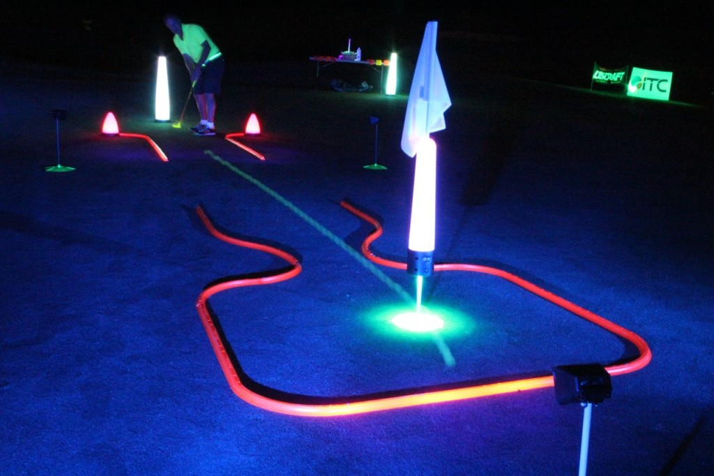 night golf putting shots made