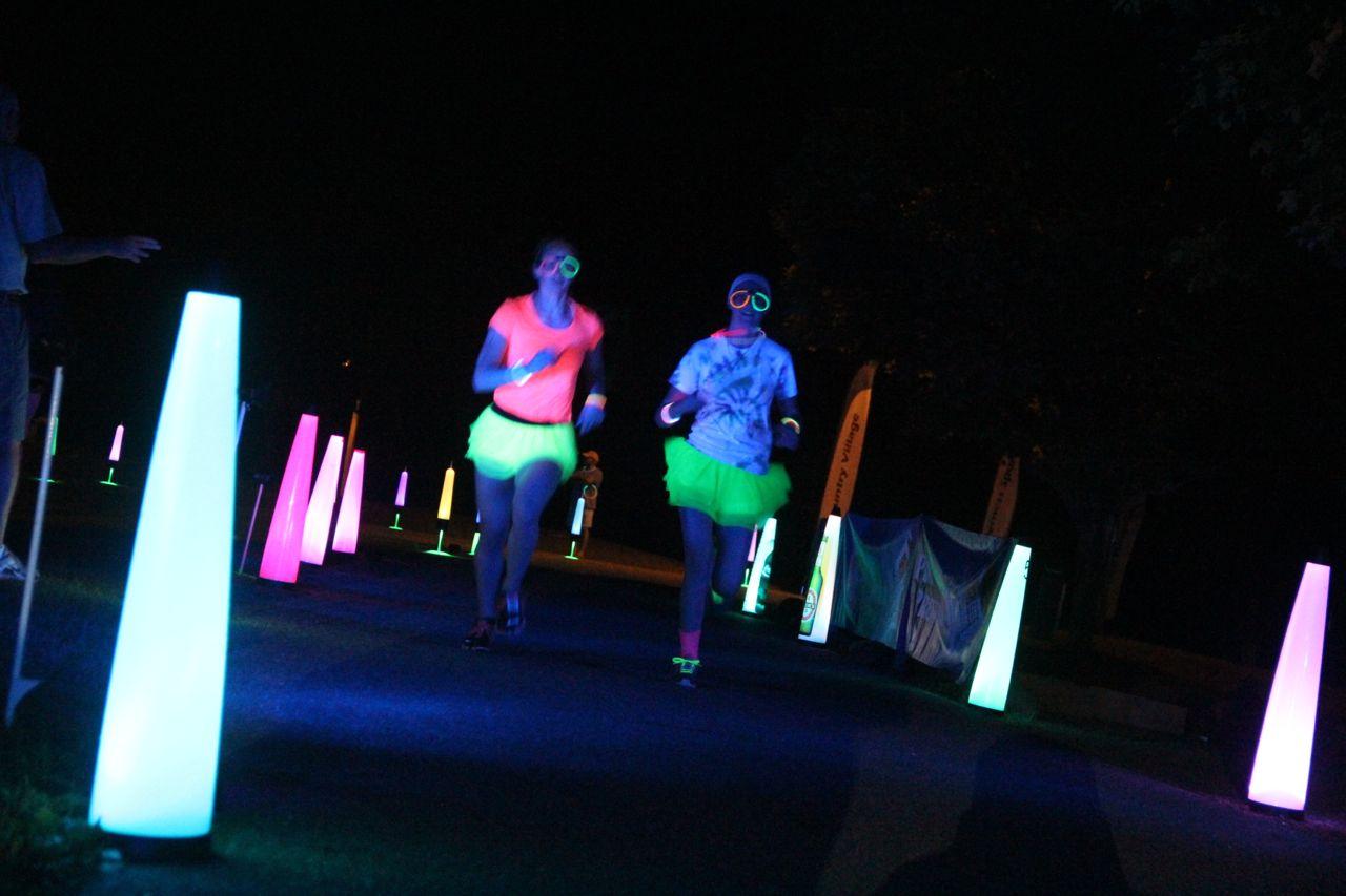 Monster Glow Dash 5k Glow Run Cosmic Night Golf