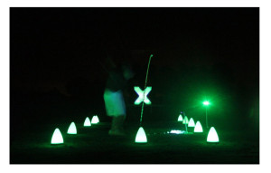 Night golf ball games