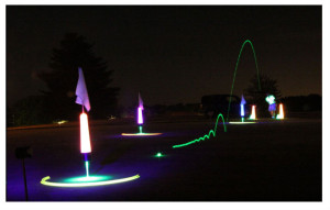 Night golf skills