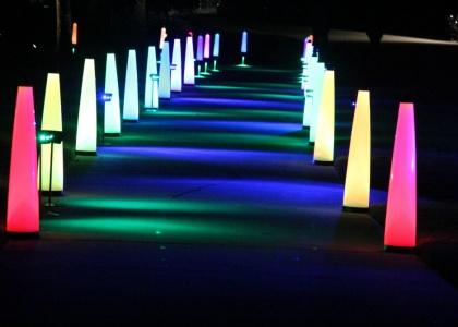 Golf course night lights