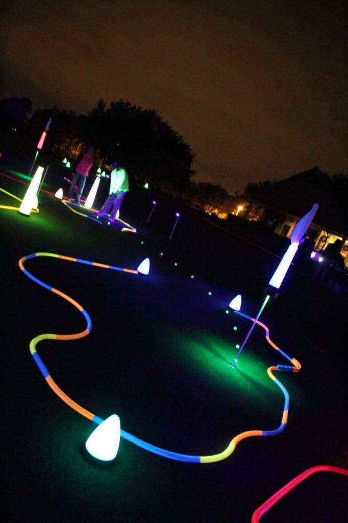 glow golf holes