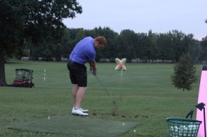glow golf target