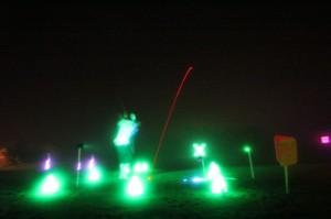 night golf X shot