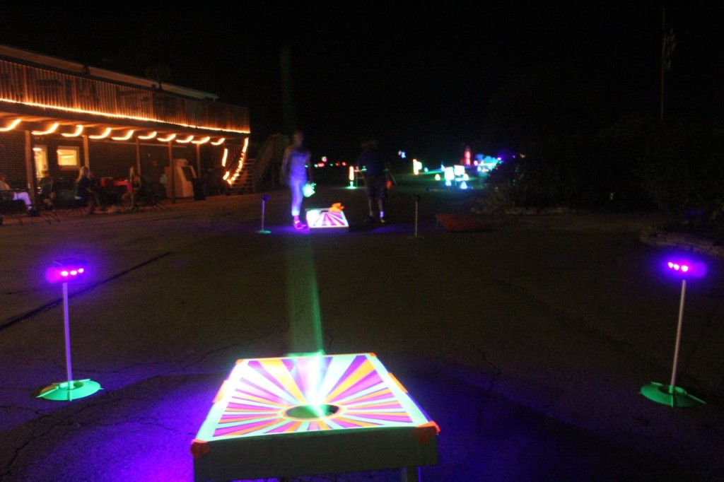 glow corn hole board