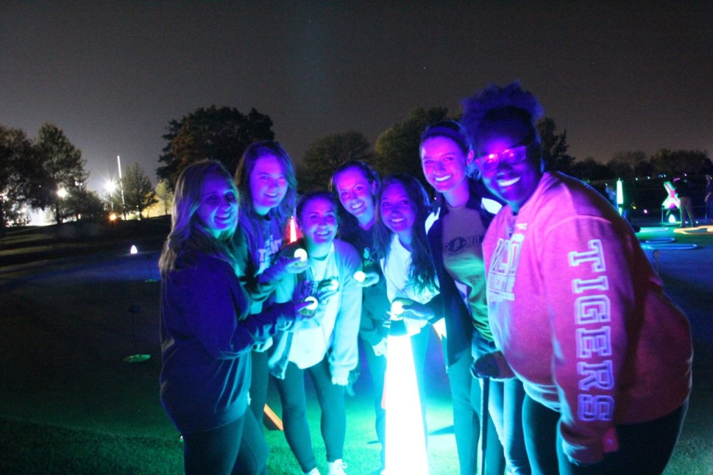 night golf fun times