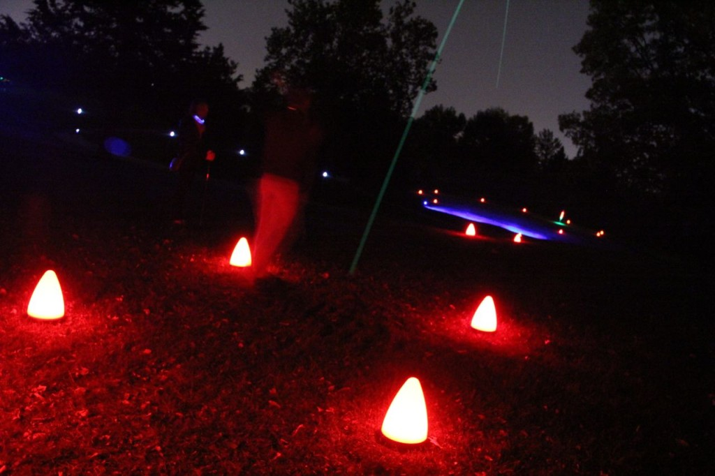 glow golf tee box configuration