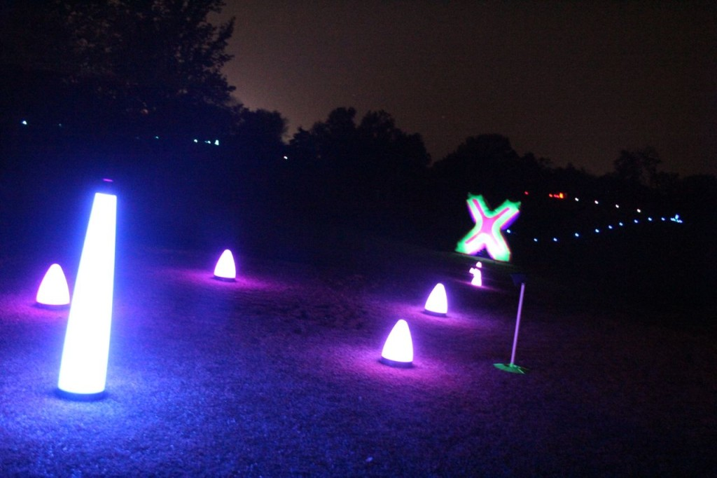 night golf course lighting