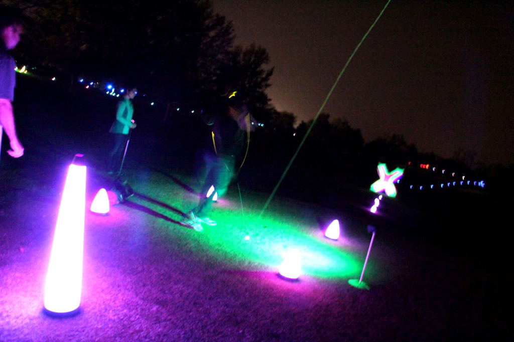 glow golf in the dark