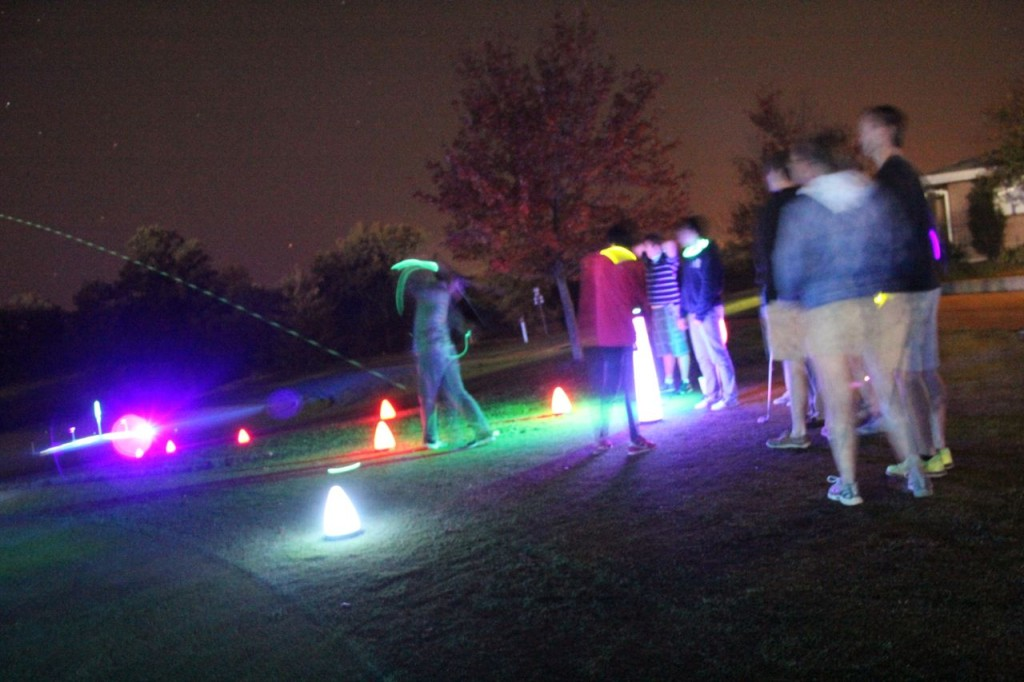 awesome golf shots at night