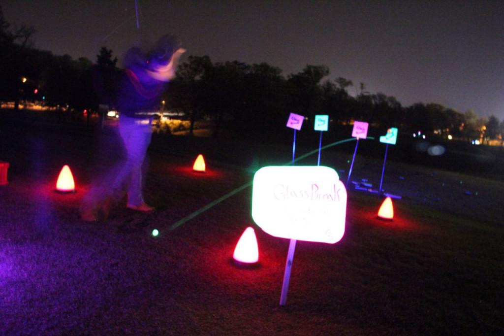 cosmic night golf shots