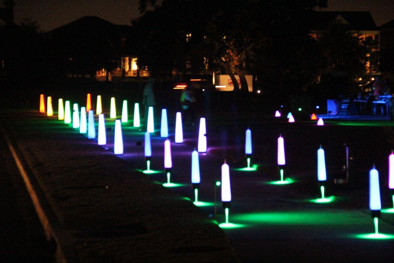 5k fun run lighting