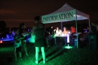 Registration tent for glow run