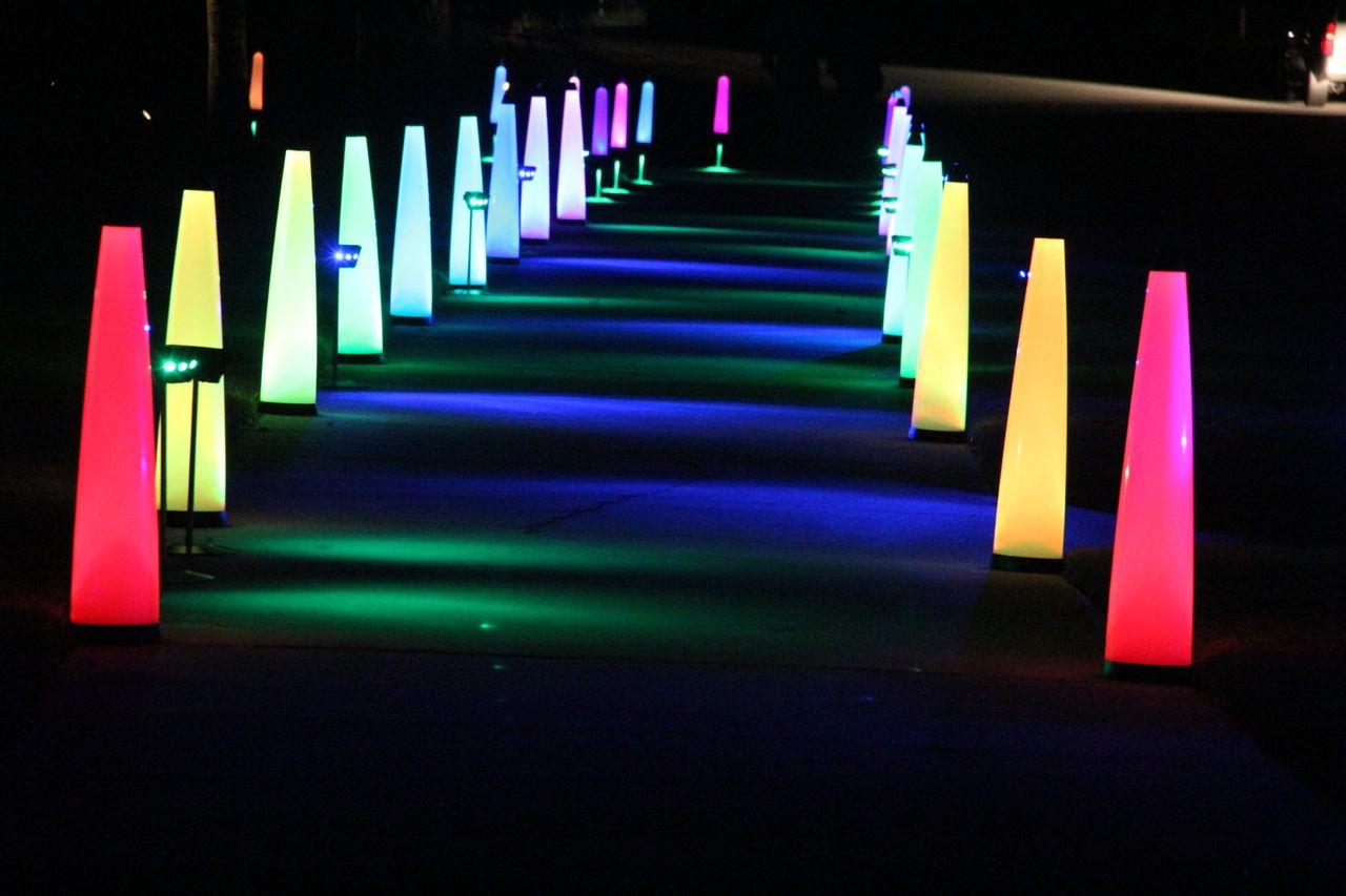 5k fun run lighting on roads