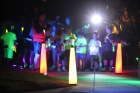 Neon run starting line lights