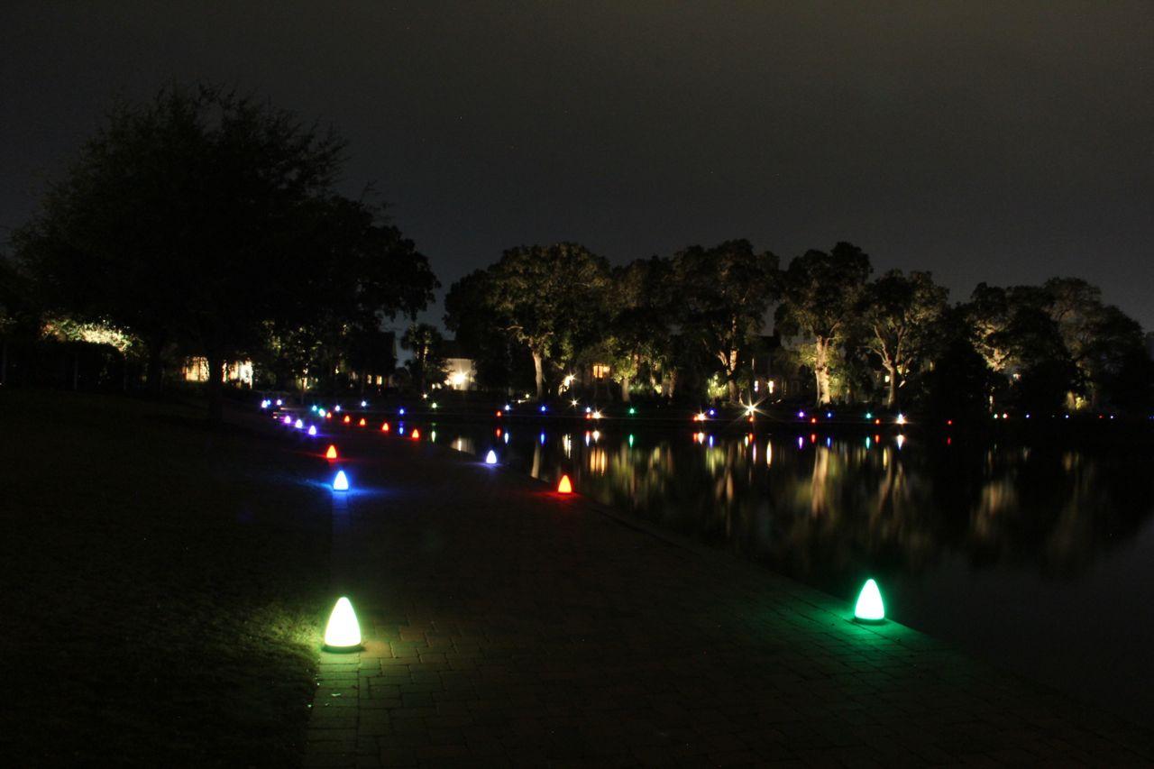 Daniel island park at night