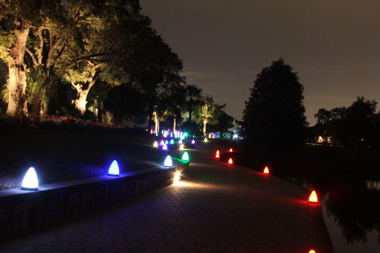 Neon run start area lights